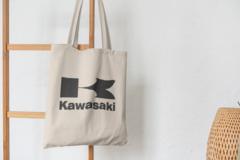 Сумка-шоппер с принтом Кавасаки (Kawasaki) бежевая 004