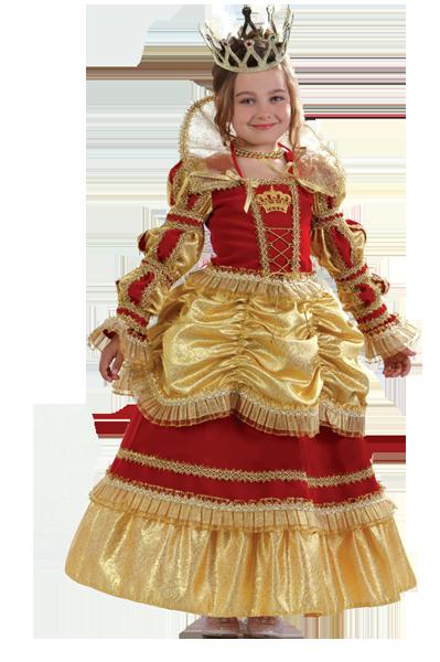 Карнавальный костюм Королева золотая детская