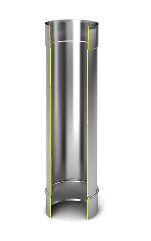Модуль дымохода Ø200, 0,5м, 0,5мм