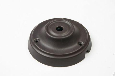 Чашка потолочная керамическая 1 вывод (Черный матовый)