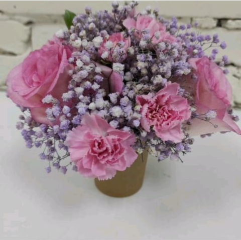Композиция живые цветы №16