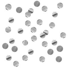 Конфетти фольгированные, Круги серебряные, 1см. / 100г. /