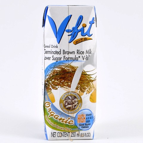 Молоко из коричневого риса без сахара V-FIT, 250мл