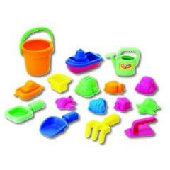KEENWAY Набор: 16 игрушек для песочницы в сетке (30312)