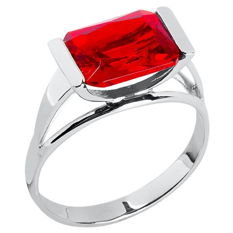 Кольцо из серебра с корунд рубином Арт.1104к