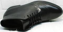 Мужские кожаные ботинки зимние классика Ikoc 3640-1 Black Leather.