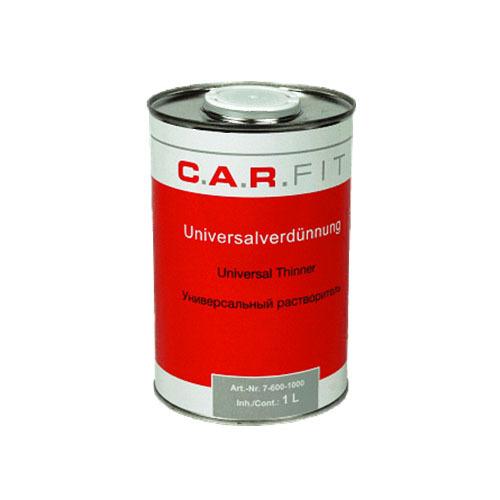 Вспомогательные жидкости Разбавитель CAR FIT универсальный для красок, лаков, грунтов, металлическая банка 1л 76001000.jpg