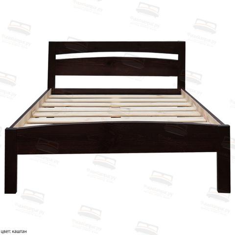 Кровать Шале с основанием Ренессанс  цвет каштан