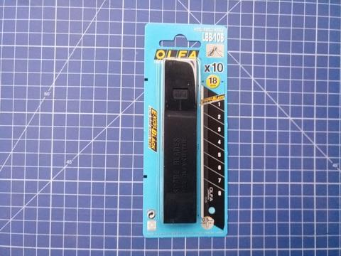 Лезвие OLFA BLACK MAX сегментированное, 18х100х0,5мм, 10шт