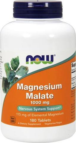 Магний NOW Magnesium Malate 1000 mg