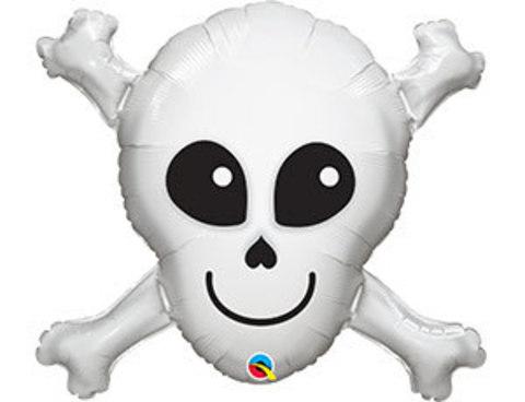 Фольгированный шар Череп с костями
