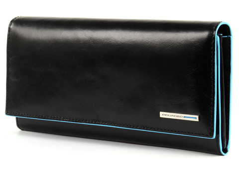 Портмоне Piquadro Blue Square, черное, 19х10х2,2 см