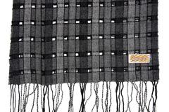 Шерстяной шарф черно-серый 30391