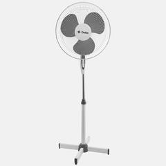 Вентилятор напольный 35 Вт, 43 см DELTA DL-001N белый с серым, min=4 шт