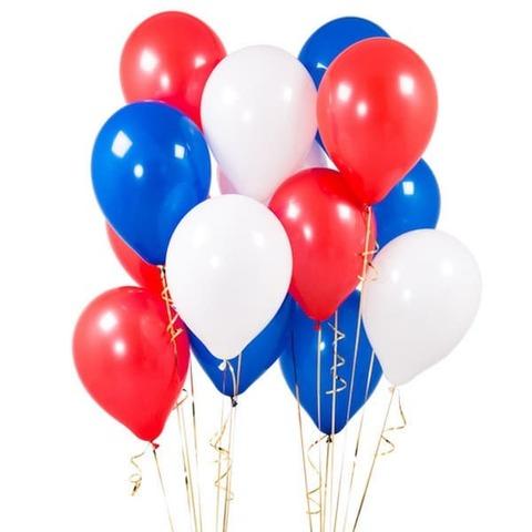 Воздушные шары с гелием Триколор