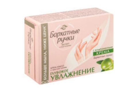 Крем-мыло БАРХАТНЫЕ РУЧКИ Глубокое увлажнение 90 г Калина РОССИЯ
