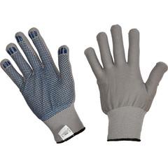 Перчатки рабочие трикотажные Ралли+ нейлоновые с ПВХ точка (размер 9, L)