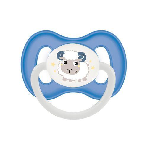 Canpol. Пустышка симметричная Bunny & company силикон 0-6 мес., синий/овечка