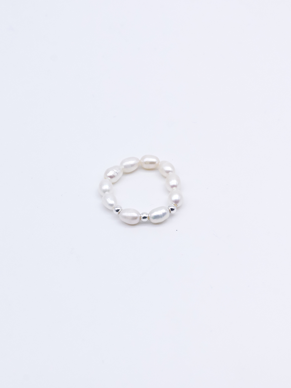 Кольцо из жемчуга с серебром  оптом и в розницу