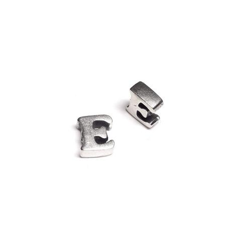 Alphabet letter E, sterling silver