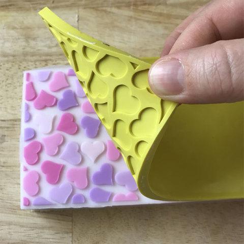 Текстурный лист Сердечки ММ