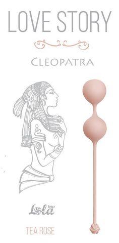 Розовые вагинальные шарики Cleopatra Tea Rose