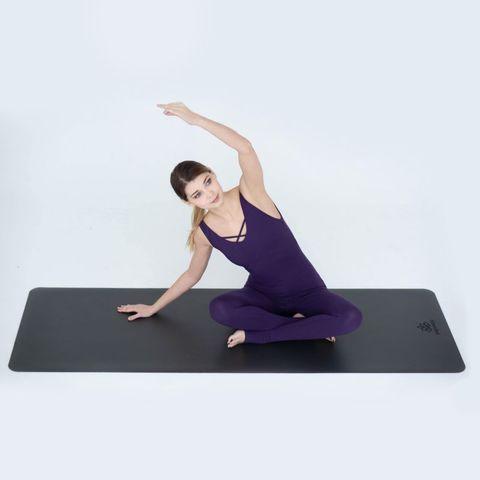 Каучуковый йога коврик Dark Grey  185*68*0,4 см