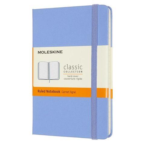 Блокнот Moleskine Classic MM710B42 Pocket 90x140мм 192стр. линейка твердая обложка голубая гортензия