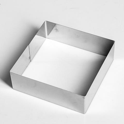 Форма для выпечки и выкладки Квадрат h5, 16×16см (нержавеющая сталь)