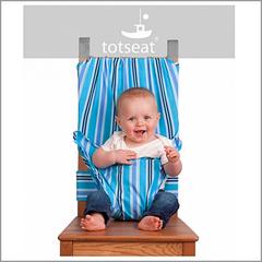 Totseat (Тотсит) дорожный стульчик для кормления лазурь