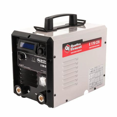 Аппарат электродной сварки, инвертор QUATTRO ELEMENTI E 170 (160 А, ПВ 100%, до 4 мм, Дисп (641-695)