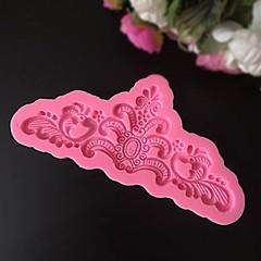 Молд силиконовый КОРОНА БОЛЬШАЯ (розовый силикон) (190х80мм)
