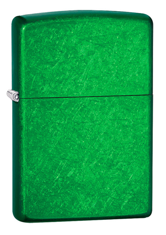 Зажигалка Zippo  (24840) Classic с покрытием Meadow латунь/сталь зеленая глянцевая 36x12x56 мм