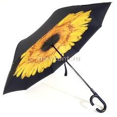 Зонт наоборот желтая ромашка, полуавтомат (закрытие)