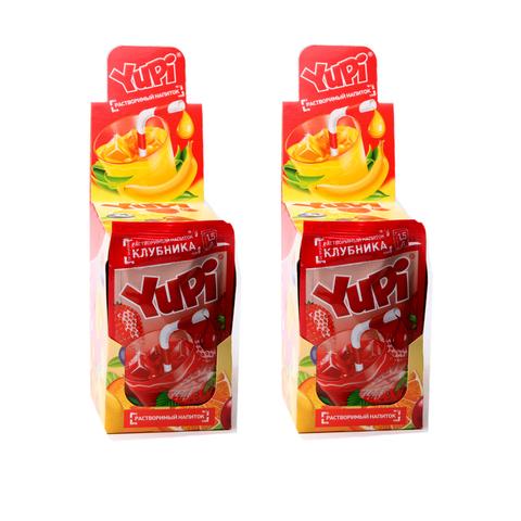 Растворимый напиток YUPI Клубника 1кор*6бл*24шт 15 гр.