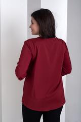 Ліза. Стильна блуза великих розмірів. Бордо