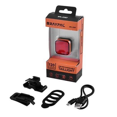 Фонарь для велосипеда Raypal RPL-2287-COB, ЗУ microUSB, встроен. аккумулятор, влагозащита