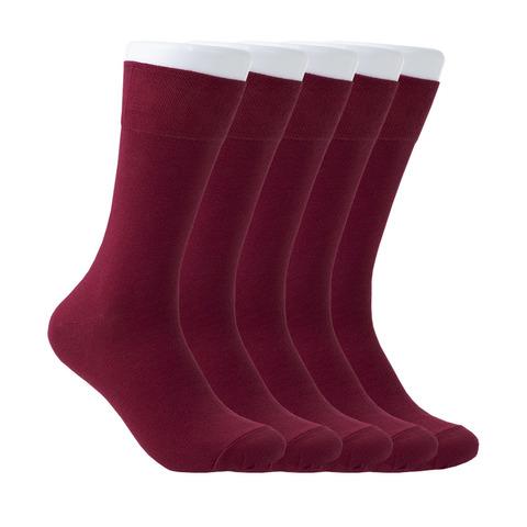 Набор бордовых носков из 5 пар купить