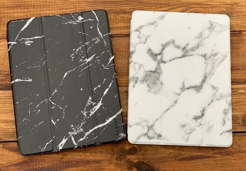 Чехол Logfer Case iPad 10.5 Air 3 (2019)/PRO Leather Marble /black/