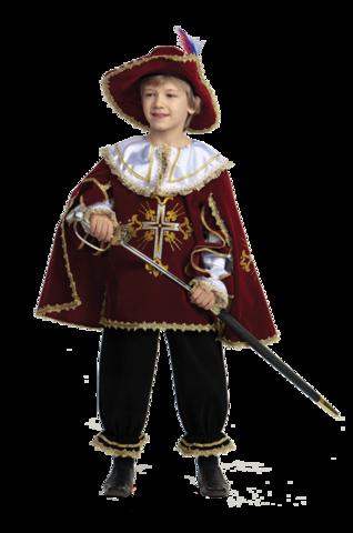 Карнавальный костюм Мушкетер бордо (бархат)