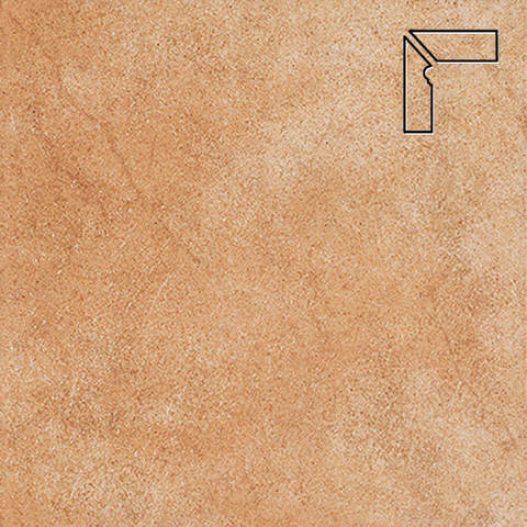 Interbau - Nature Art, Gold braun/Золотисто-коричневый, цвет 113 - Клинкерный плинтус ступени левый