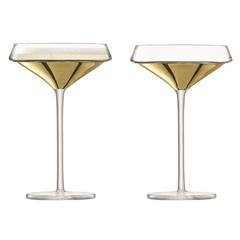 Набор из 2 бокалов-креманок для шампанского Space, 240 мл, золото, фото 1