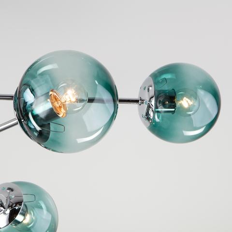 Потолочная люстра со стеклянными плафонами 30166/8 хром