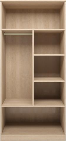 Шкаф для одежды двухдверный Квест 1 Ижмебель дуб сонома светлый