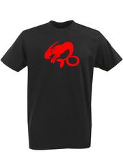 Футболка с однотонным принтом Знаки Зодиака (Козерог) черная 005