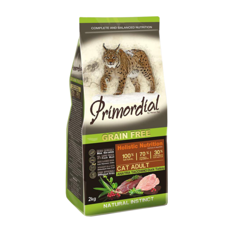 Primordial Сухой корм для кошек с уткой и индейкой (беззерновой)