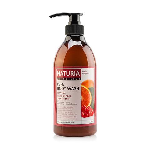 Гель для душа Клюква - апельсин / NATURIA PURE BODY WASH, Cranberry & Orange 750 мл