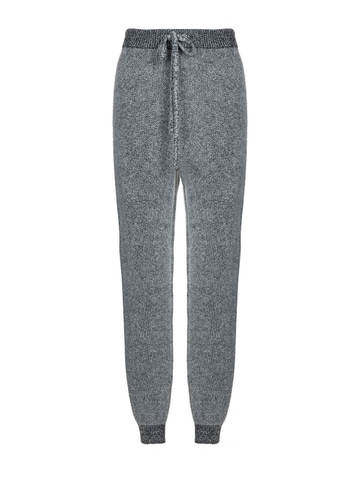 Женские брюки серого цвета из мохера и кашемира - фото 1