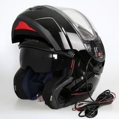 Шлем-модуляр с подогревом стекла MT Atom, чёрный