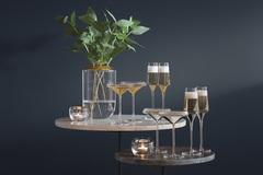 Набор из 2 бокалов-креманок для шампанского Space, 240 мл, золото, фото 2